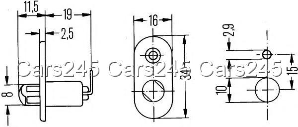 Bmw 3 5 Series E36 E12 1965-1999 HELLA Switch door contact