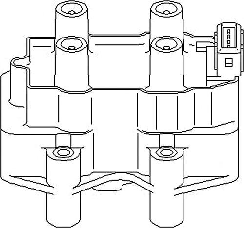 Ignition Coil Pack Fits CITROEN Xantia Xsara PEUGEOT 306