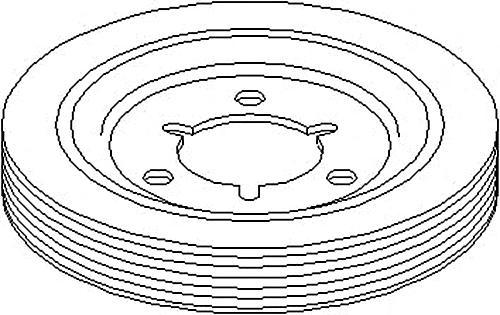 Crankshaft Pulley V-Ribbed Belt Fits CITROEN C2 C4 PEUGEOT