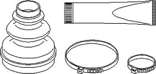 Front Axle Drive Shaft CV Boot Kit Fits CITROEN PEUGEOT