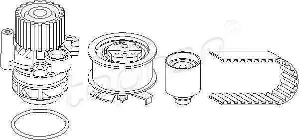 Timing Belt Kit + Water Pump Fits Audi A3 Seat Leon Skoda