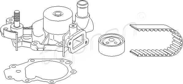 Timing Belt Kit + Water Pump Fits Renault Kangoo Clio II 2