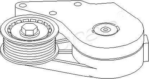 Tensioner Pulley Lever V-Ribbed Belt Fits FORD Galaxy VW