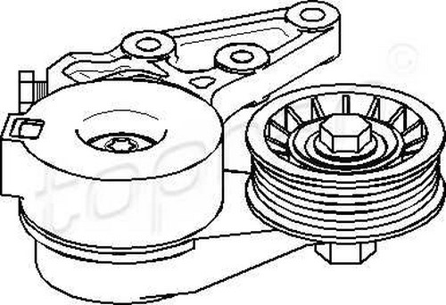 Tensioner Pulley V-Ribbed Belt Fits AUDI Tt SEAT VW Bora 2