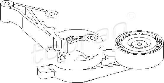 Tensioner Pulley Lever V-Ribbed Belt Fits AUDI 8P SEAT