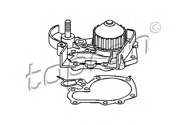 Water Pump Fits RENAULT Clio 19 I II Chamade 1.2-1.4L 1990