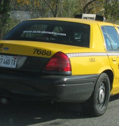 view photo of yellow cab ford crown victoria 949kb [ 1866 x 998 Pixel ]