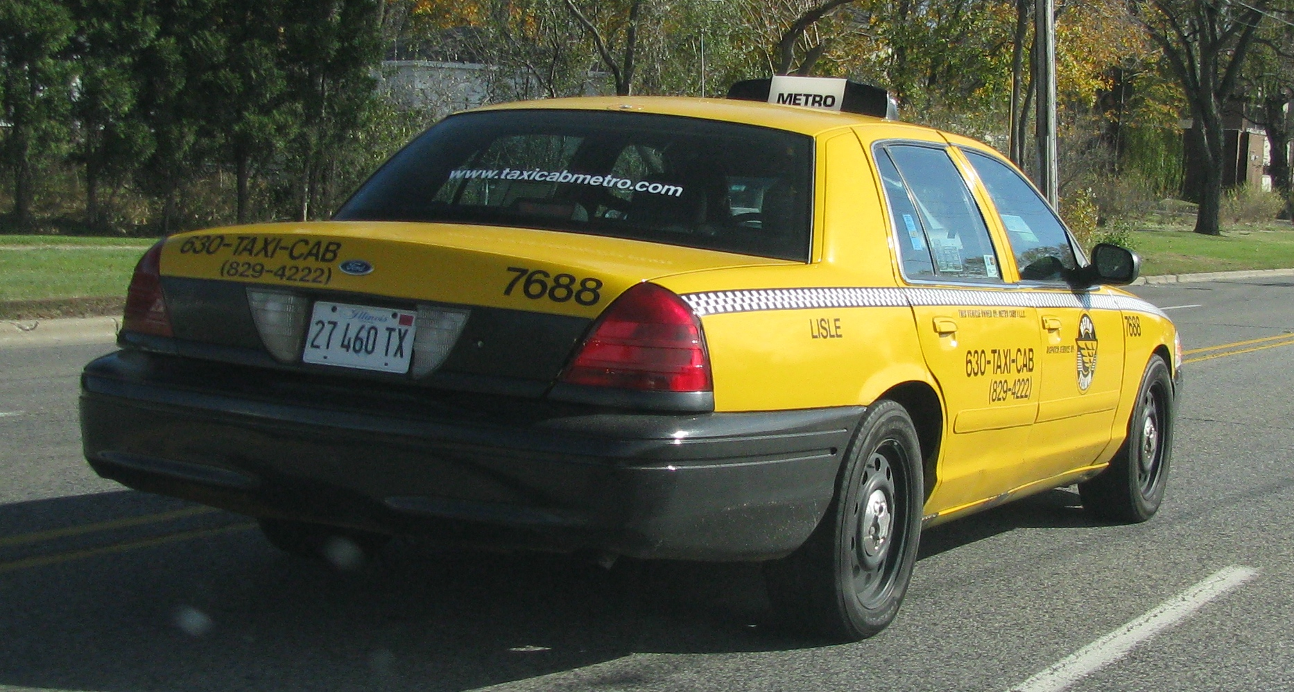 hight resolution of view photo of yellow cab ford crown victoria 949kb