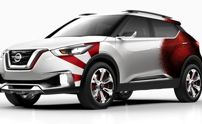 Nissan Kicks Concept Given A Carnival Paint Scheme In