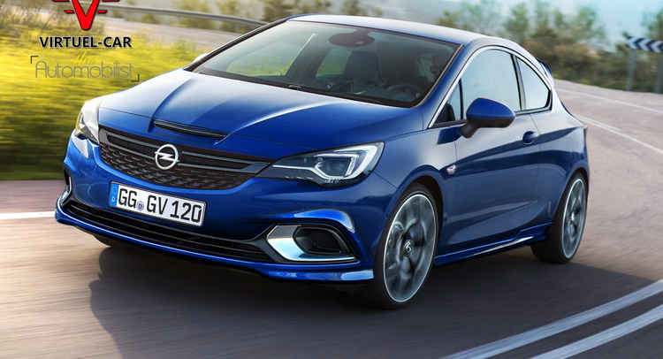 2016 Opel Astra K OPC Rendered With Corsa Components