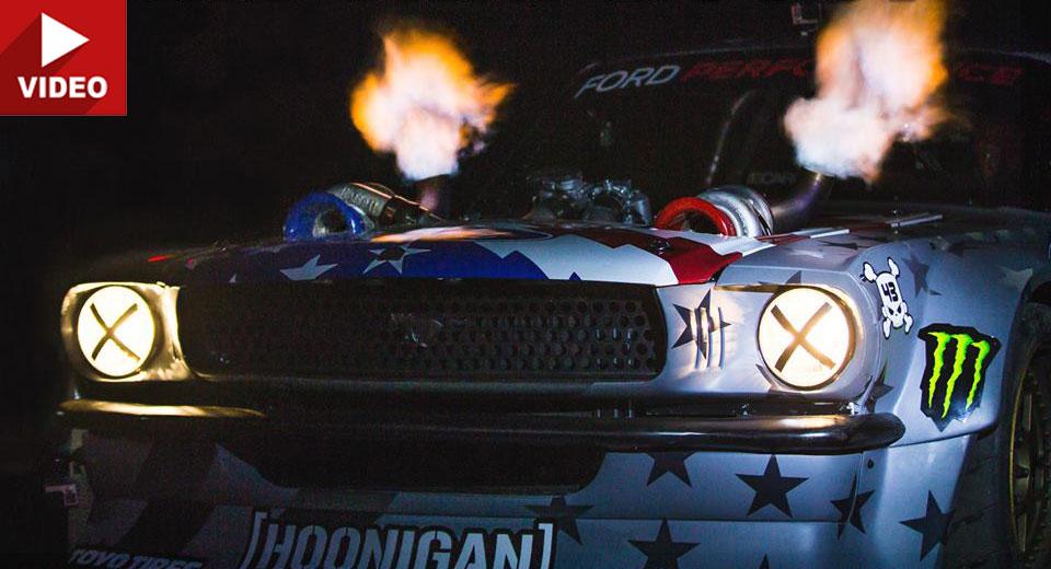 Car Spitting Flames Wallpaper Ken Block Teases Twin Turbo 1400 Hp Hoonicorn V2