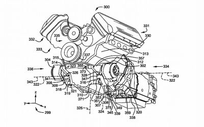 Ford Patents A V8 With Two Electric Motors Hybrid System
