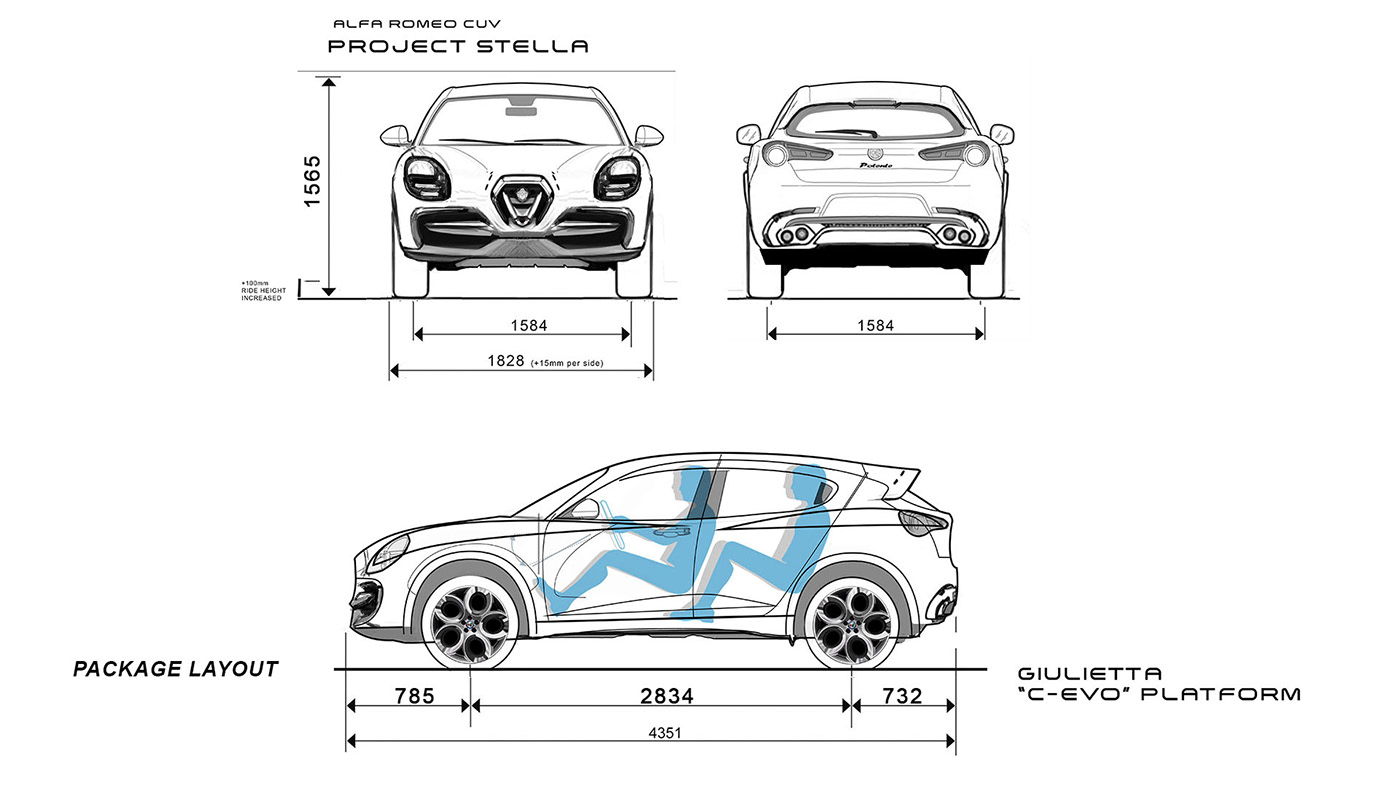 Alfa Romeo Stella Compact Suv Is The Tonale From An