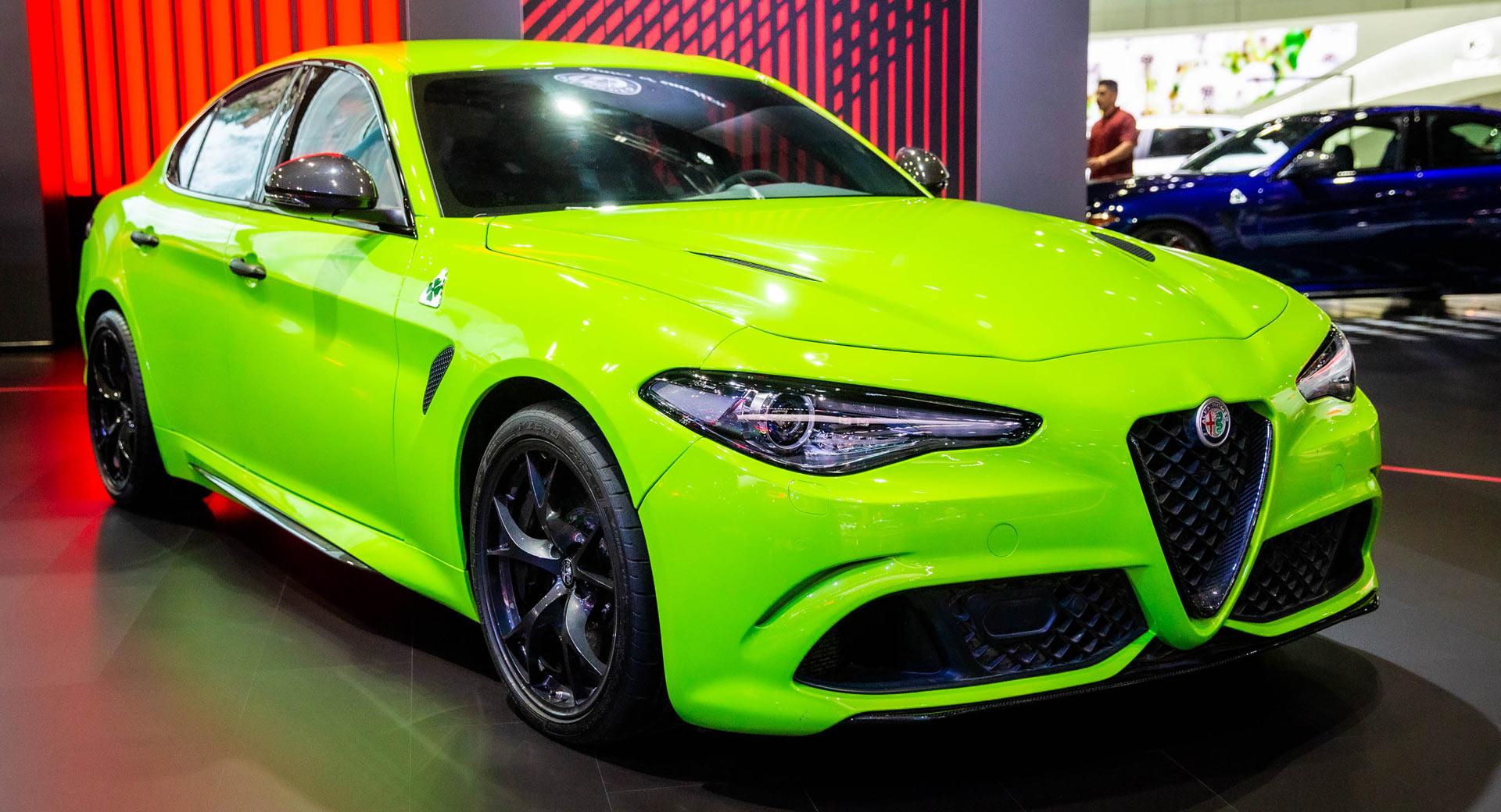 Neon Green Giulia Quadrifoglio Steals The Lime Light At