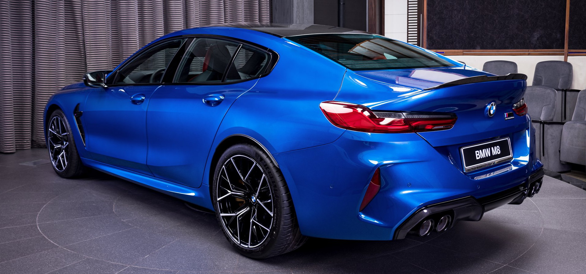 Sonic Speed Blue Looks Perfect On The BMW M8 Competition Gran Coupe | Carscoops