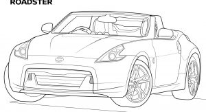 Keep Yourself Entertained With Nissan's 26-Page Coloring