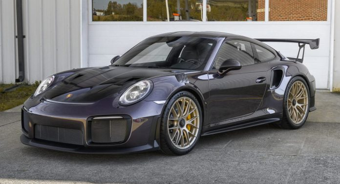 Metallic Purple 2018 Porsche 911 Gt2 Rs Is Part Track Toy Part Piece Of Art Carscoops