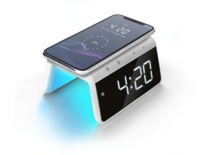 "Caliber HCG019Qi/W - Qi Ladestation ""pad mit fast charge"" Uhrenanzeige, Nachtlicht"