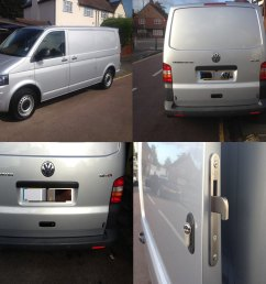 volkswagen transporter 2003 rear deadlock kit with tail gate product picture [ 1300 x 1100 Pixel ]