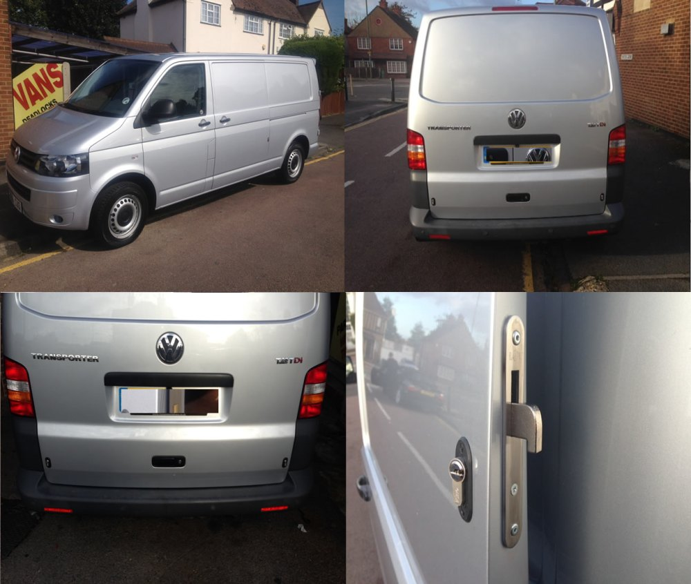 medium resolution of volkswagen transporter 2003 rear deadlock kit with tail gate product picture