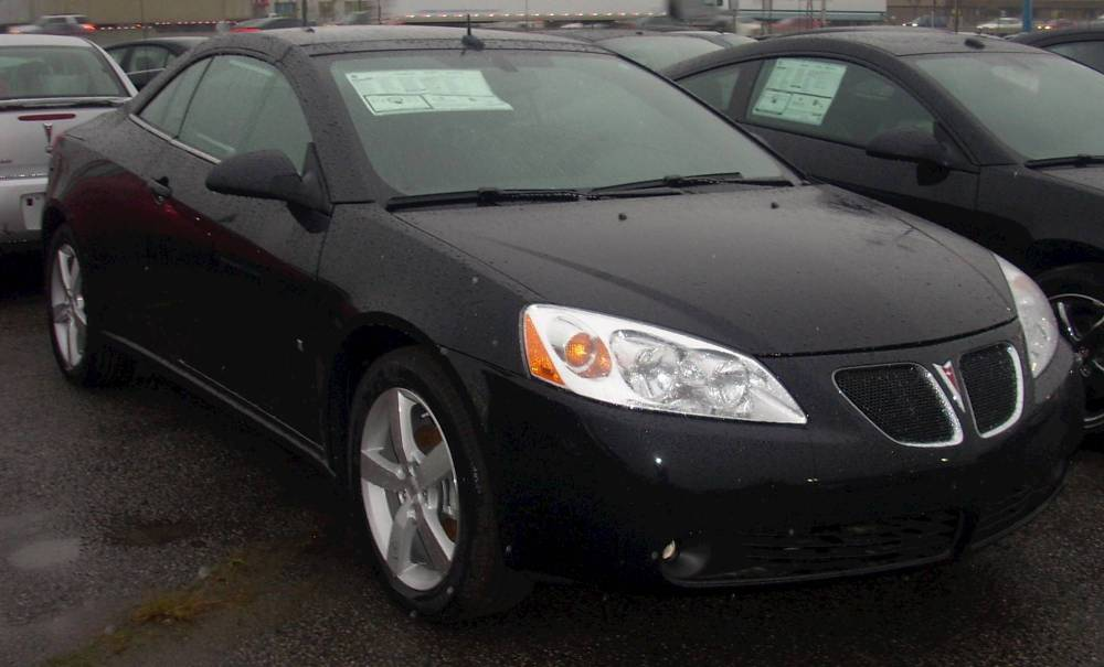 medium resolution of  08 pontiac g6 convertible