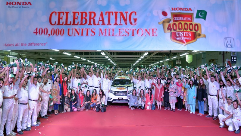 Honda Atlas Cars Celebrates 400,000-unit Production Milestone