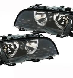 headlights l r bmw e46 98 01 4dr sedan 318 320 325 330i [ 1280 x 960 Pixel ]