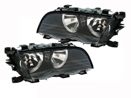 small resolution of headlights l r bmw e46 98 01 4dr sedan 318 320 325 330i