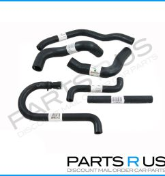 radiator hoses kit cooling pack ford falcon ef el 4 0l 6 cyl fairmont nf nl xr6 [ 1280 x 1280 Pixel ]
