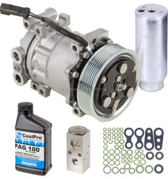 buyautoparts 60 83196rn 5 pc premium installers ac kit new oem compressor w clutch drier expansion device oil o rings  [ 1000 x 1000 Pixel ]