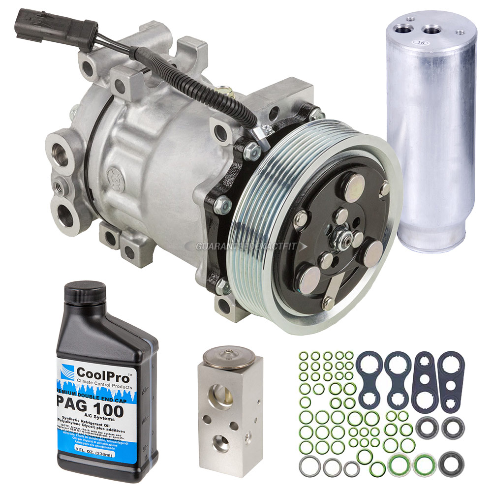 hight resolution of  buyautoparts 60 83196rn 5 pc premium installers ac kit new oem compressor w clutch drier expansion device oil o rings