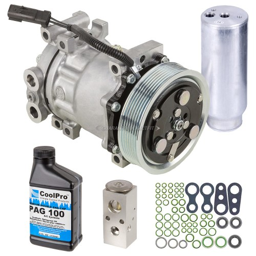 small resolution of  buyautoparts 60 83196rn 5 pc premium installers ac kit new oem compressor w clutch drier expansion device oil o rings