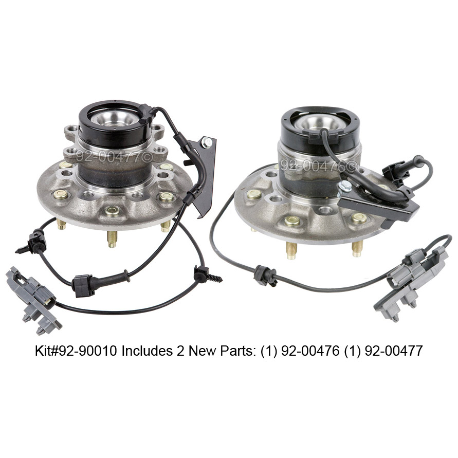 Pair New Front Left & Right Wheel Hub Bearing Assembly For