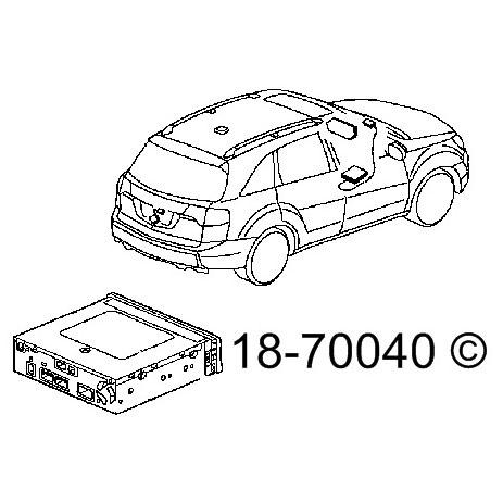 2008 Acura MDX DVD Navigation Module from Car Parts