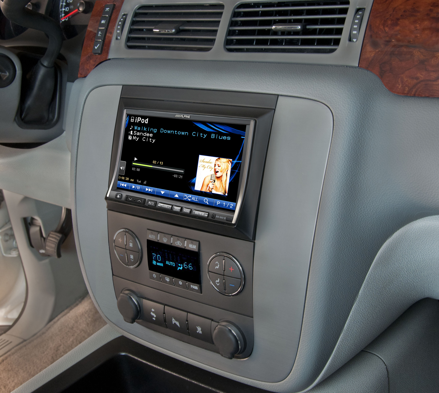 hight resolution of alpine s new oversized double din navigation system