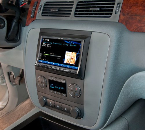 small resolution of alpine s new oversized double din navigation system