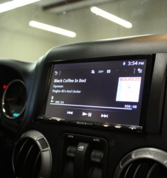sony double din installed in 2013 jeep wrangler [ 1280 x 853 Pixel ]