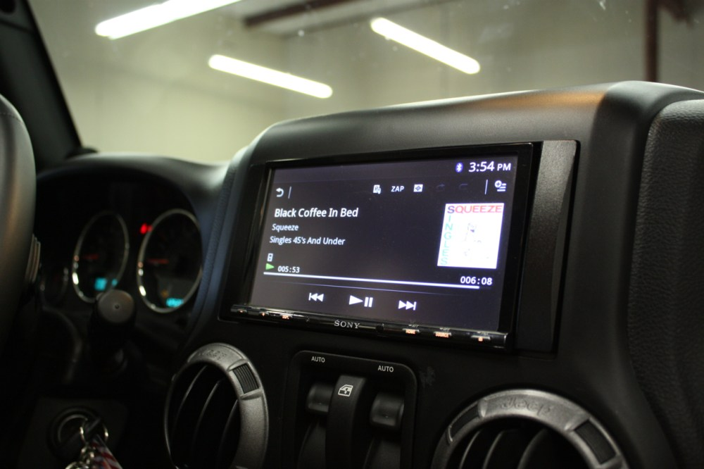 medium resolution of sony double din installed in 2013 jeep wrangler