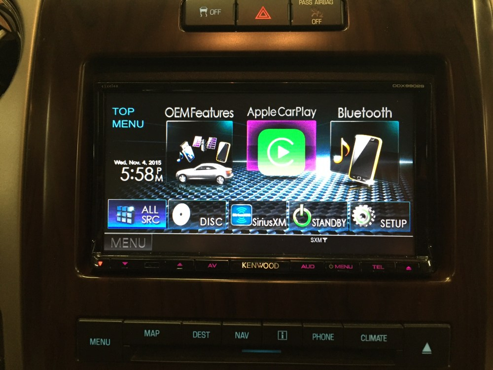 medium resolution of kenwood ddx9902s installed in a 2012 f 150 that came equipped with stock navigation