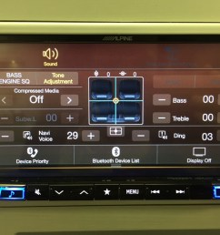 best double din navigation 2016 alpine ine w967hd easy bass and treble adjustment  [ 1024 x 768 Pixel ]