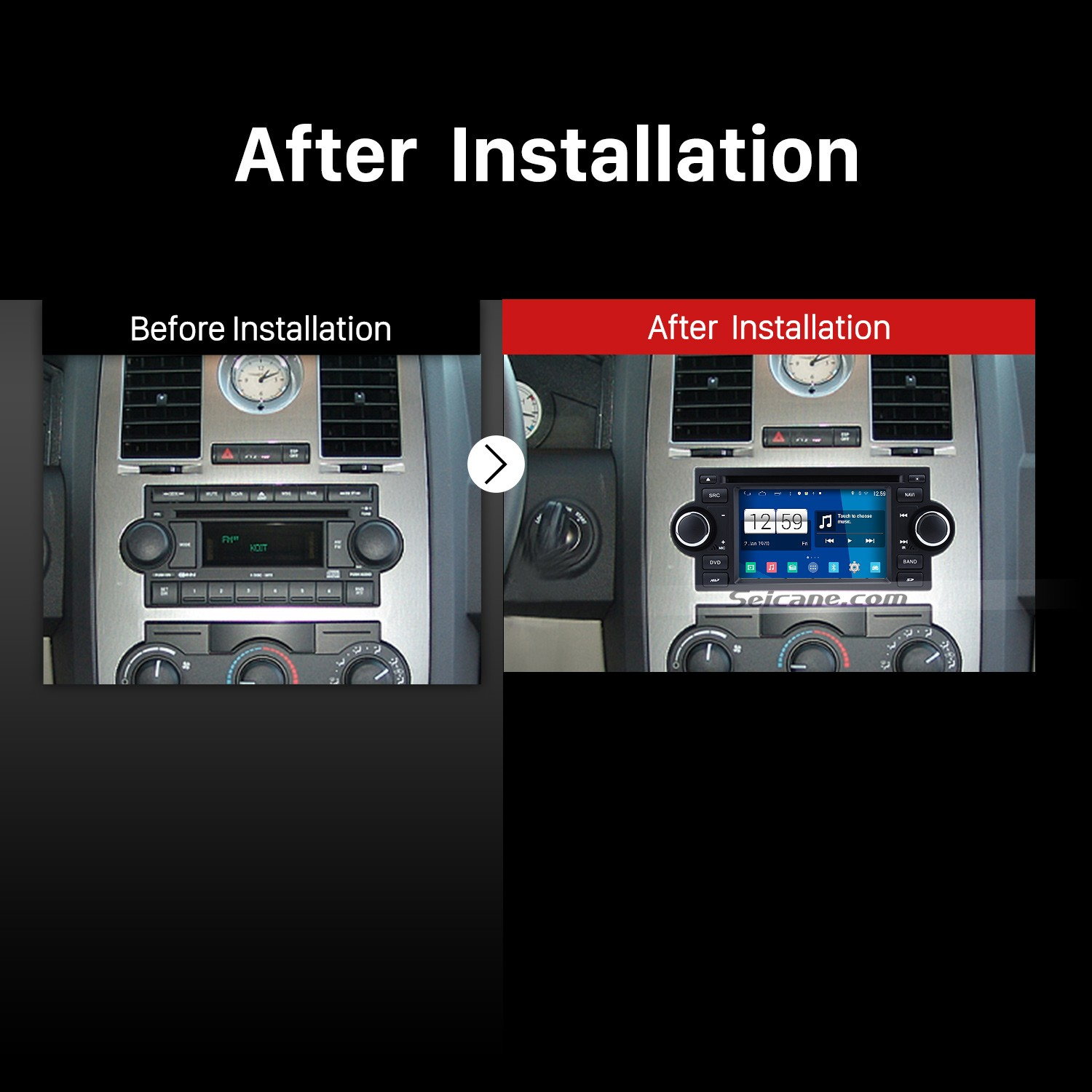 hight resolution of 2002 2007 dodge caravan charger radio after installation