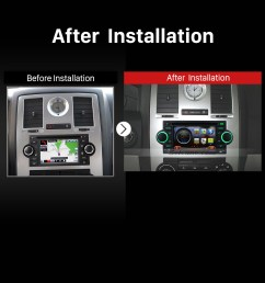 2002 2007 dodge intrepid magnum neon car stereo after installation [ 1500 x 1500 Pixel ]