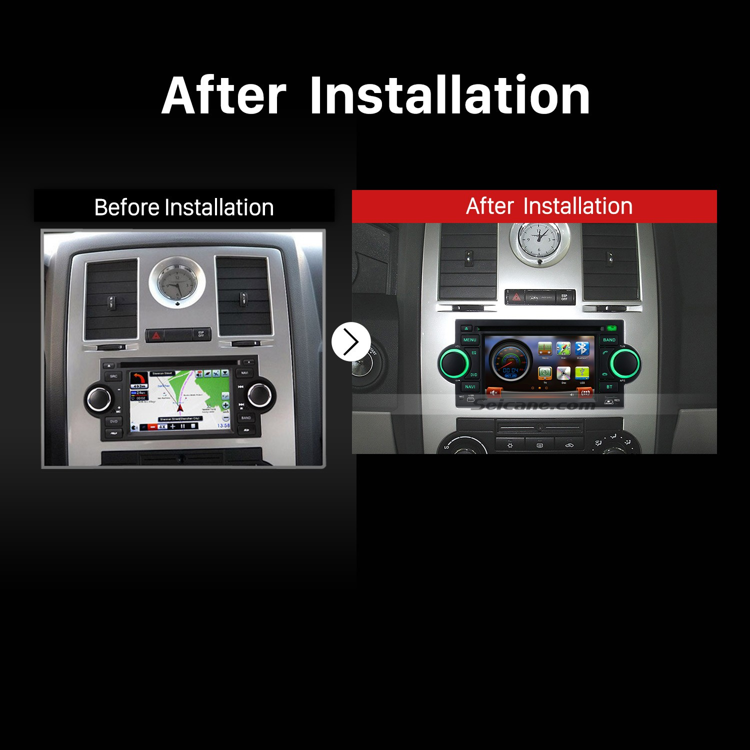 hight resolution of 2002 2007 dodge intrepid magnum neon car stereo after installation
