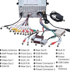 2010 ford fusion radio wiring diagram 2010 ford escape trailer step 10 connect the harnesses to the back of the new seicane car radio 2004 [ 1500 x 1500 Pixel ]