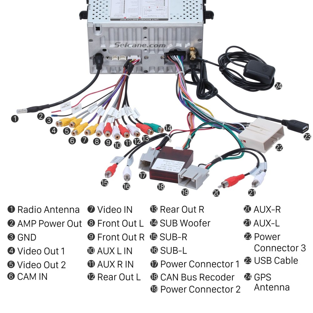 medium resolution of 2010 ford fusion radio wiring diagram 2010 ford escape trailer step 10 connect the harnesses to the back of the new seicane car radio 2004