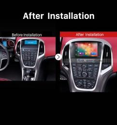 2010 2011 2012 2013 opel astra j dvd gps bluetooth car radio after installation [ 1500 x 1500 Pixel ]