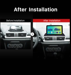 2014 mazda 3 encore low version bluetooth gps car radio after installation [ 1500 x 1500 Pixel ]