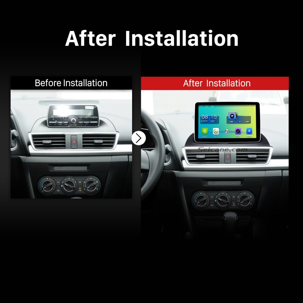 medium resolution of 2014 mazda 3 encore low version bluetooth gps car radio after installation