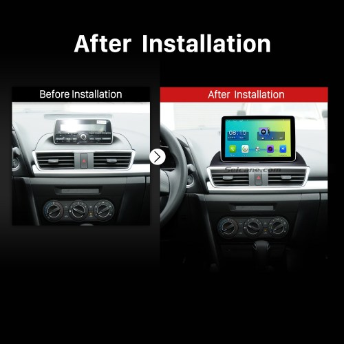 small resolution of 2014 mazda 3 encore low version bluetooth gps car radio after installation