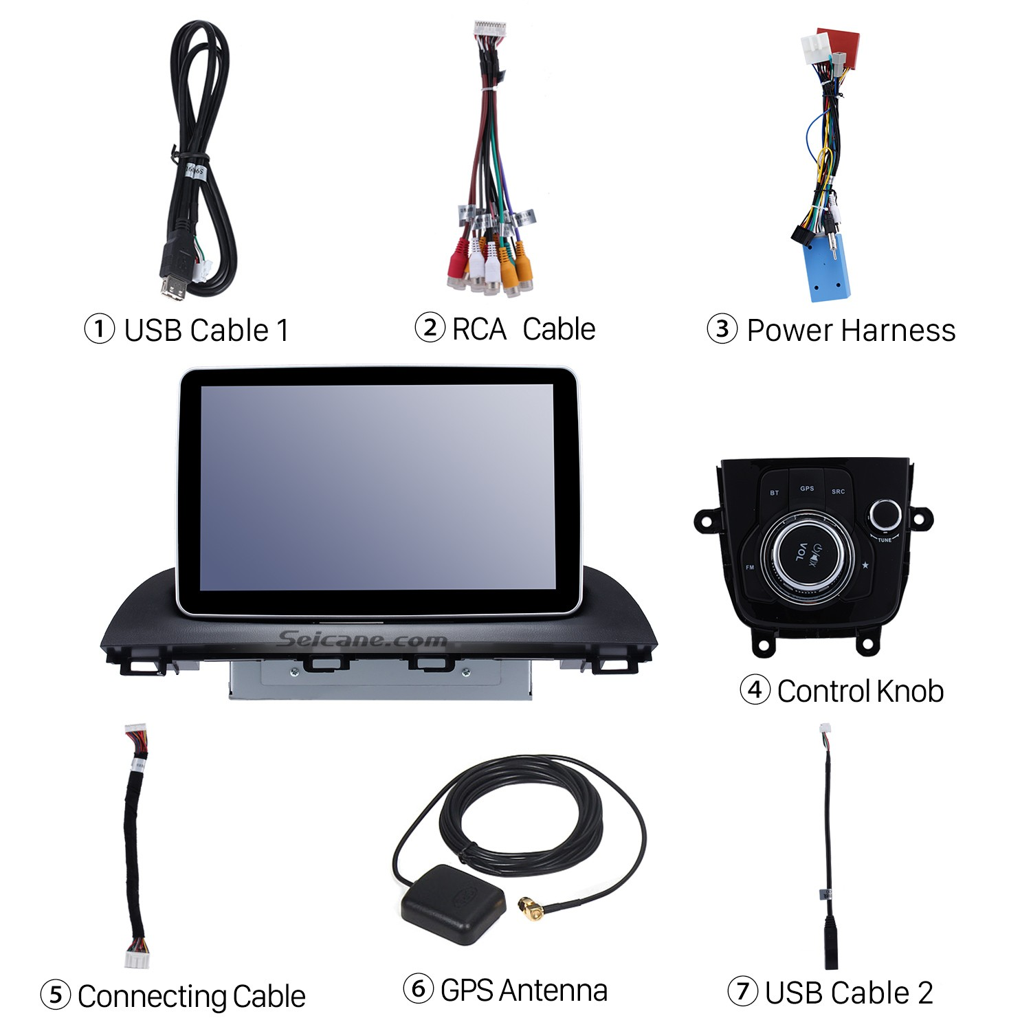 hight resolution of check all the accessories for the new seicane car radio